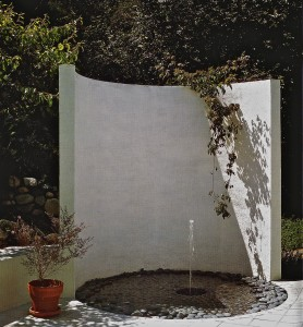 Zen outdoor fountain
